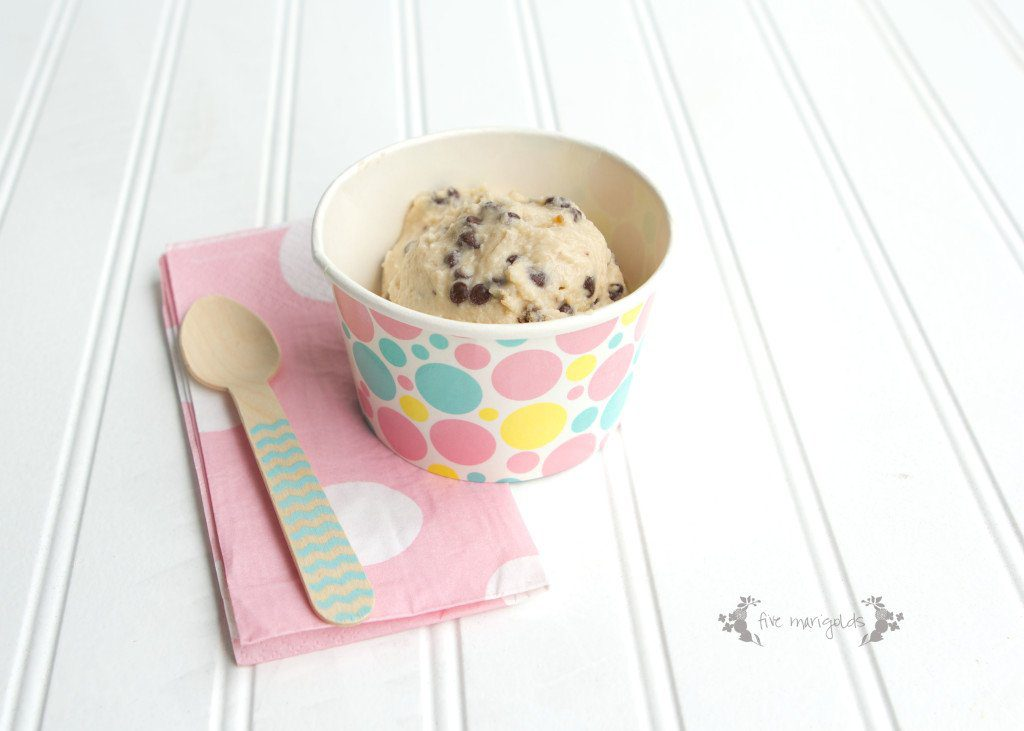 Cookie Dough Frozen Yogurt Recipe | Five Marigolds