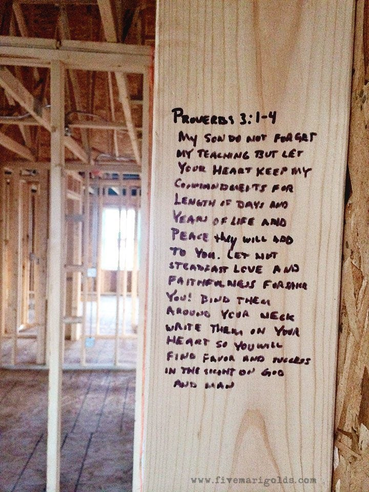 Strong Foundations Bible Verses For A New House Five