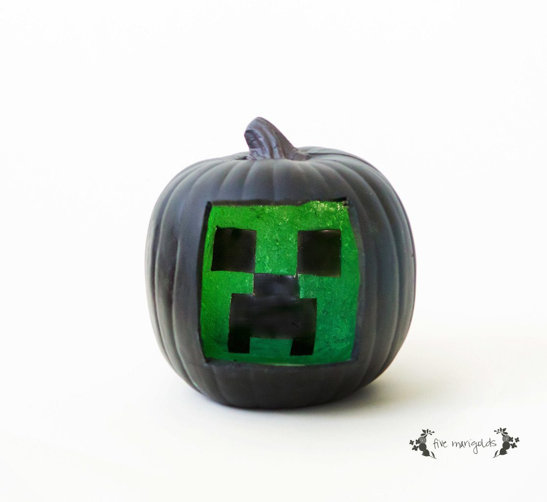 Minecraft Creeper Halloween Pumpkin | Five Marigolds