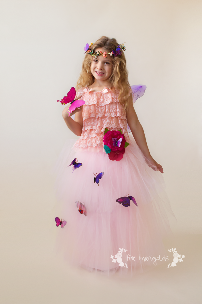 Shop your kids' closets for Halloween - Butterfly Garden Fairy costume for $3 | Five Marigolds