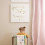 DIY Canvas Wall Art for Baby Nursery: I Love You Through and Through | Five Marigolds