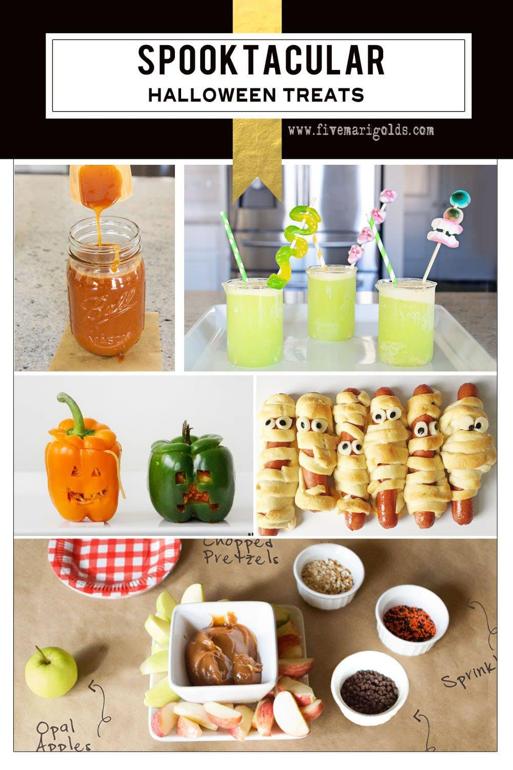 Lots of ideas for fun and spooky Halloween treats and recipes | Five Marigolds