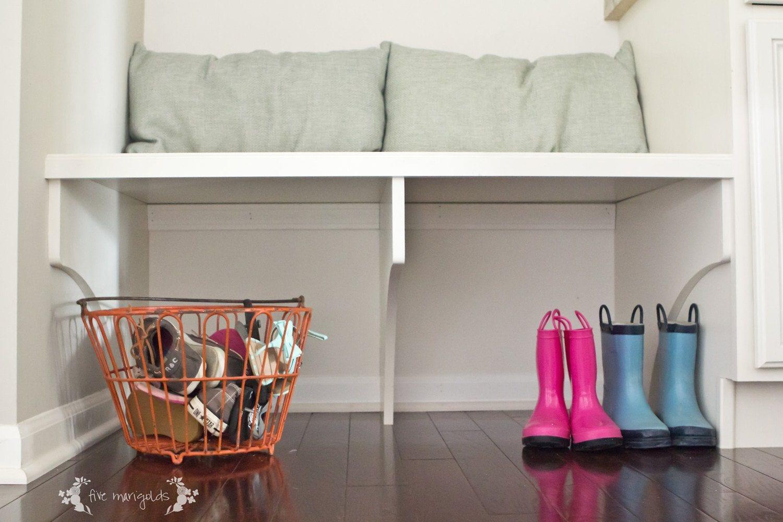 Mud Room Bench Storage | Five Marigolds