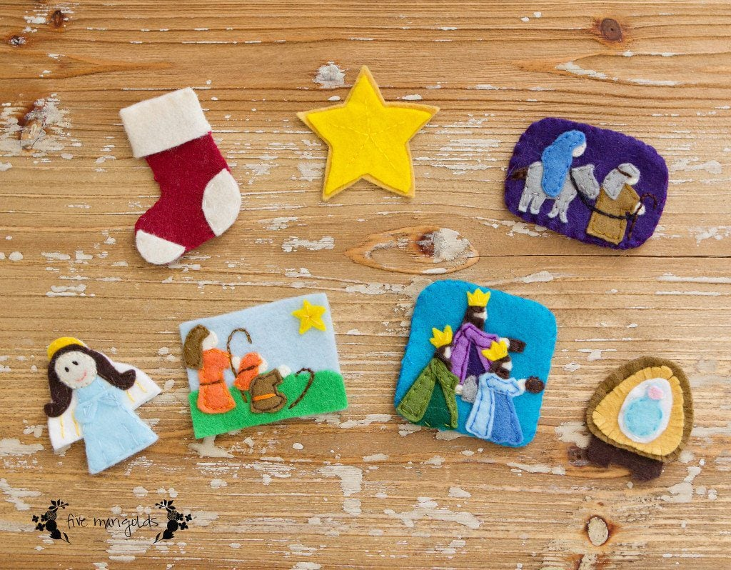Felt Christmas Tree Advent Calendar | Five Marigolds