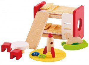 Hape dollhouse bedroom bunk bed furniture   Five Marigolds