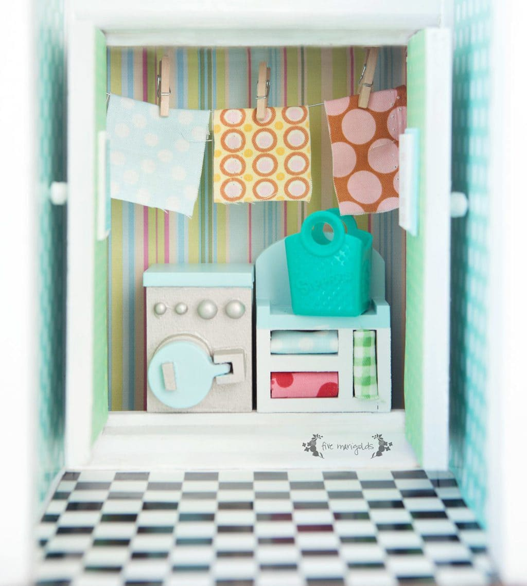 Vintage Dollhouse Remodel Part V: Bath + Laundry Room