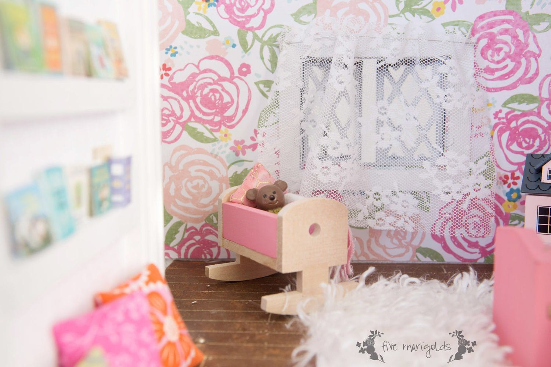 Vintage Dollhouse Girl Room Remodel | www.fivemarigolds.com