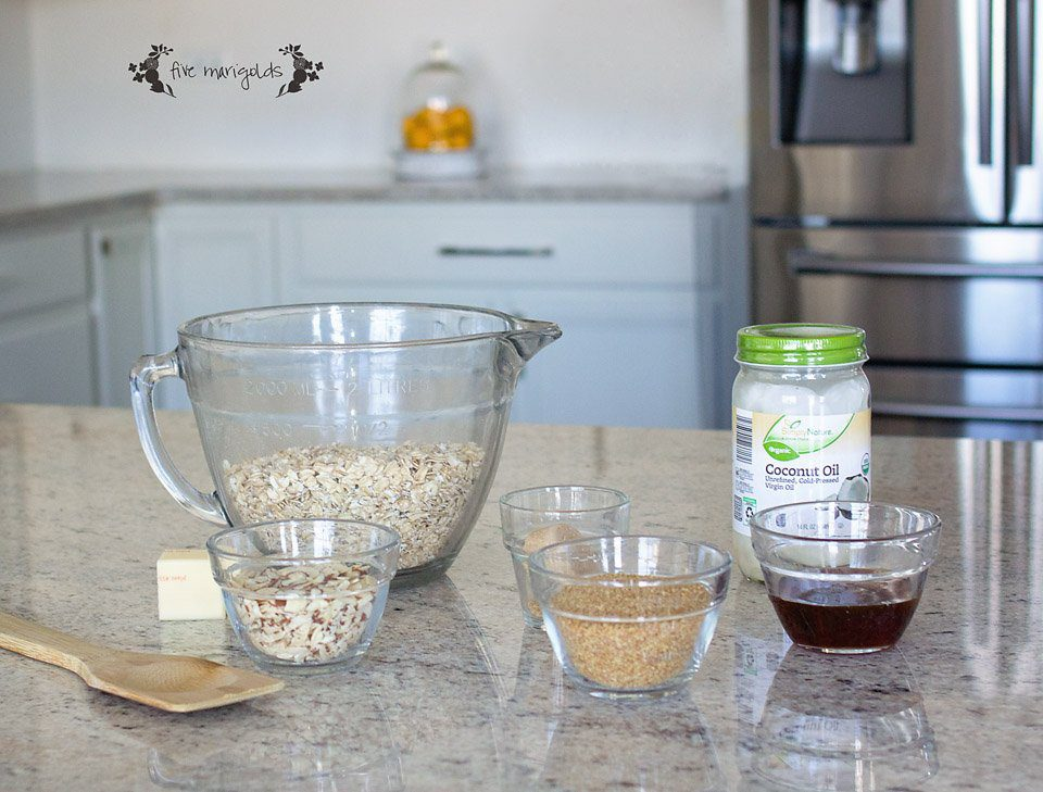Simple and Skinny Granola Recipe With or Without Oil | Five Marigolds