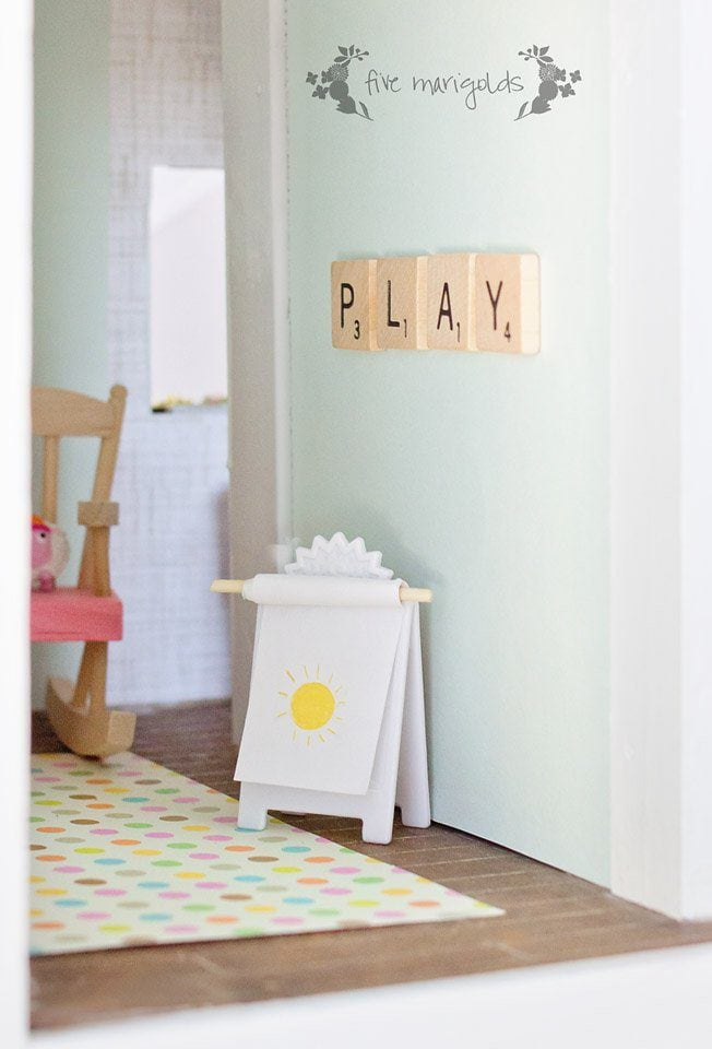 Vintage Dollhouse Play Room Remodel | Five Marigolds