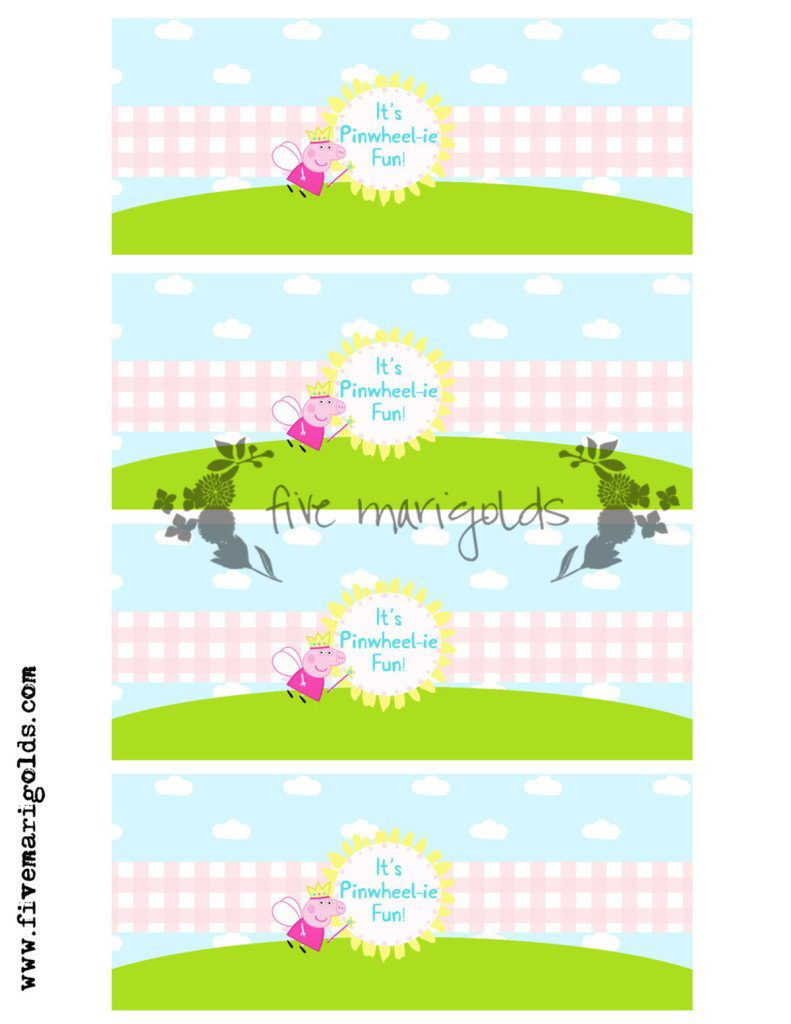 Peppa Pig Printables: Bubbles make excellent Peppa Pig Party Favors!