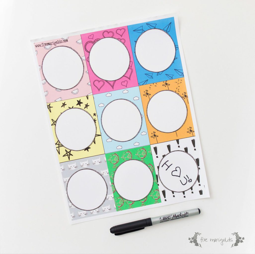 Fill In The Blank Lunchbox Notes Printable | Five Marigolds
