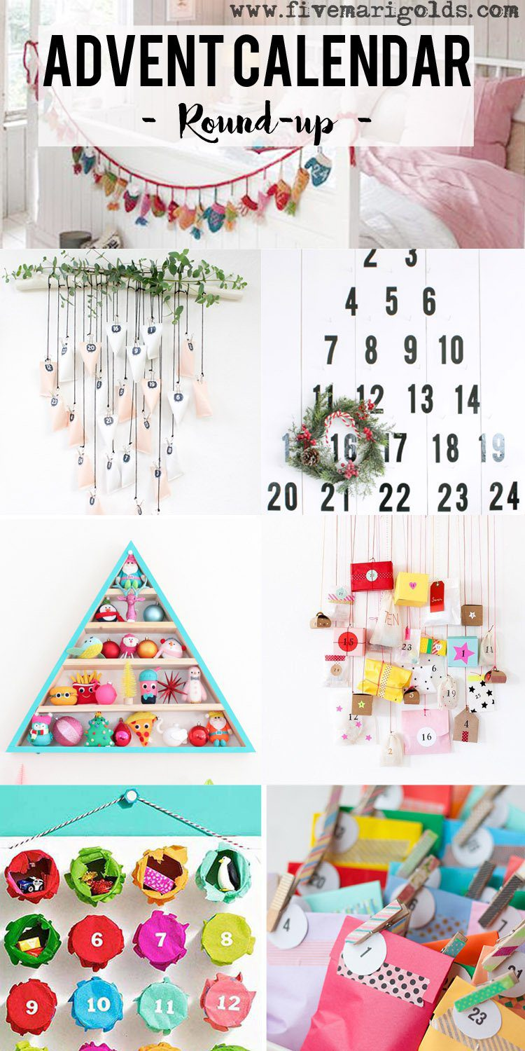 Round-up of Inspiring DIY Advent Calendars | Five Marigolds