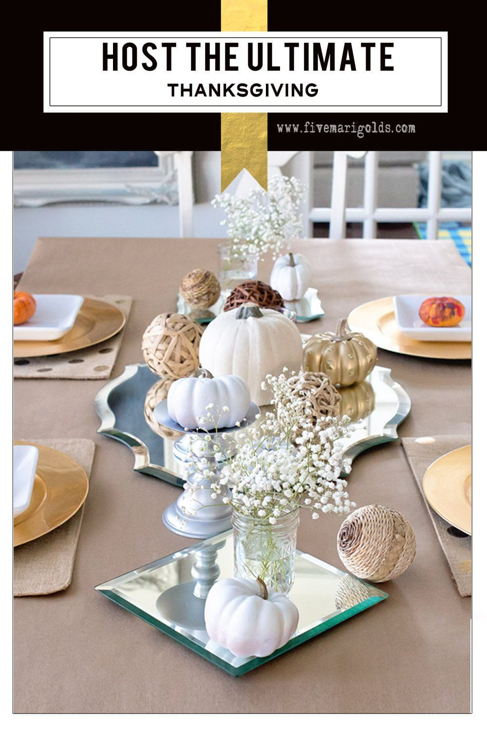 How to host the ultimate Thanksgiving with free printable favor tags | Five Marigolds