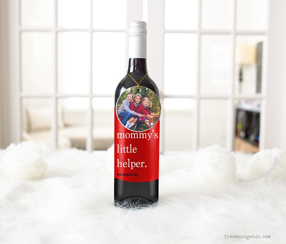 Free Wine Labels for Moms + 10 DIY ideas for gift wrapping wine