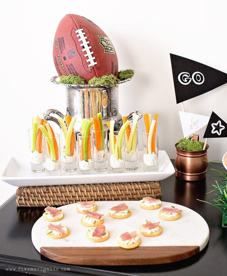 Score Points with the Ultimate Game Day Party - Guiltless Game Day Recipes and DIY Decor #ReadyForKickoff #ad