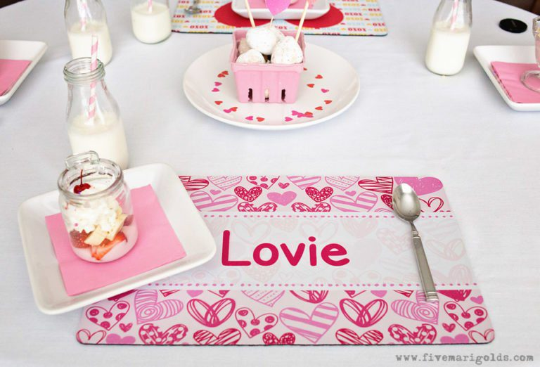 No-Sew Chair Cover and DIY Valentines | Five Marigolds