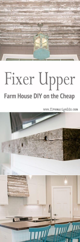 Remodelaholic | 15 Fixer Upper DIY Projects |Fixer Upper Diy