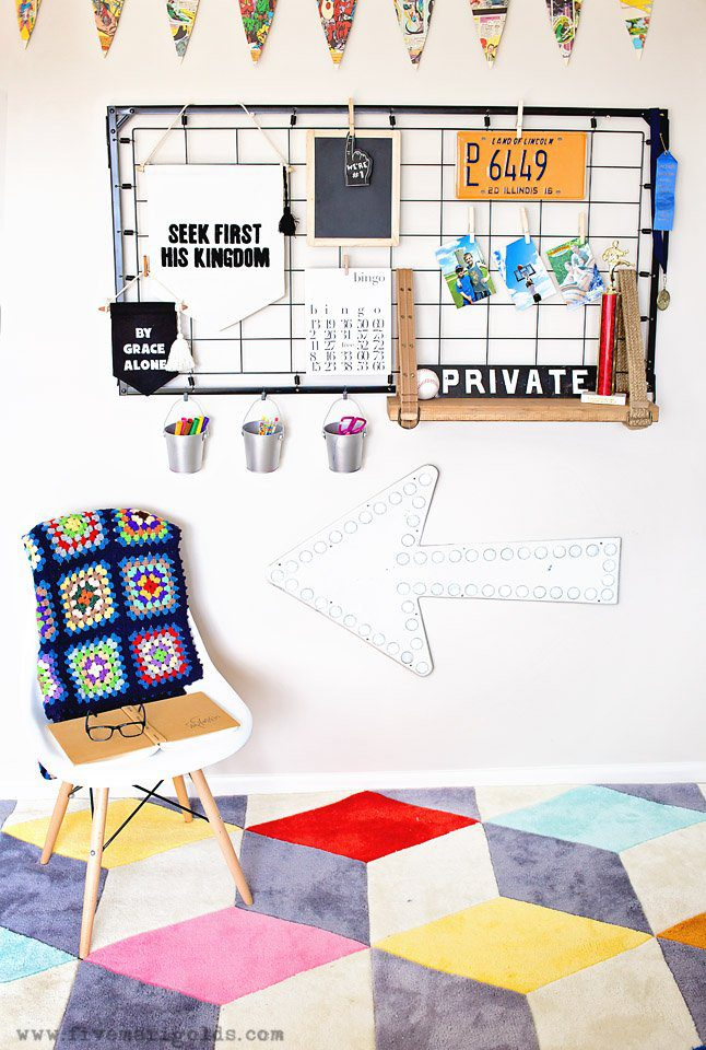 Big Boy Room Reveal: Decor for the Book Worm. | Five Marigolds #birchlanekids