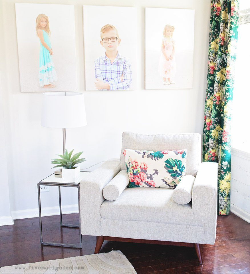 Colorful Living Space: Clean And Colorful Living Room Reveal