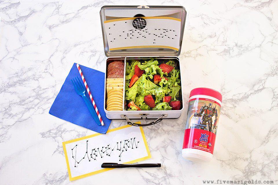 Secret Message Lunchbox Notes | Five Marigolds