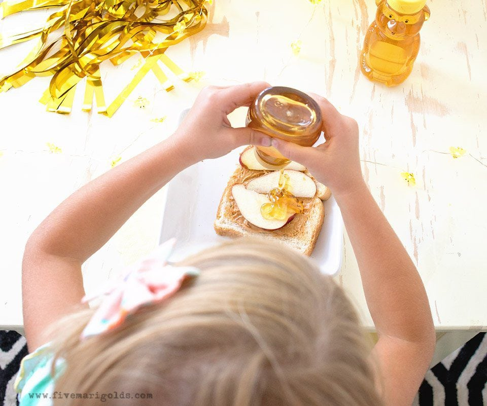 Honey Bear After School Snack | Five Marigolds