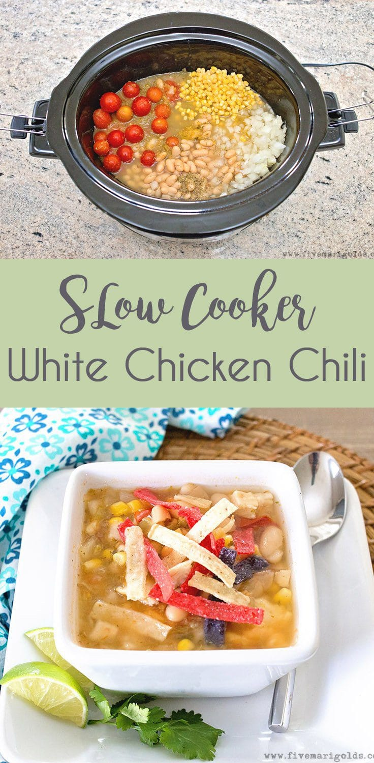 Slow Cooker White Chicken Chili #ad #MakeGameTimeSaucy