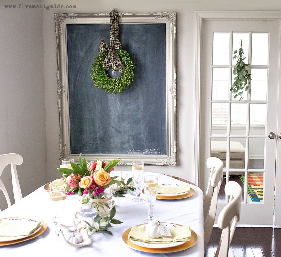 Affordable and chic thanksgiving decor five marigolds for Cheap chic home decor