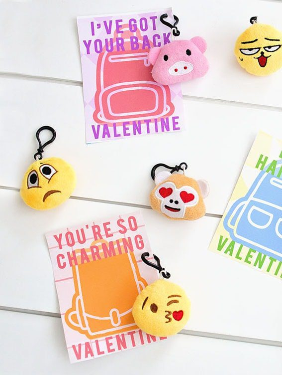 I've got your back backpack charm valentine printables for Valentine's Day. Gender neutral valentines. | Five Marigolds