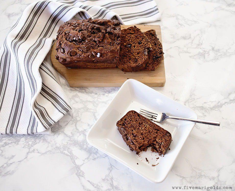 Chocolate Caramel Banana Bread - Five Marigolds