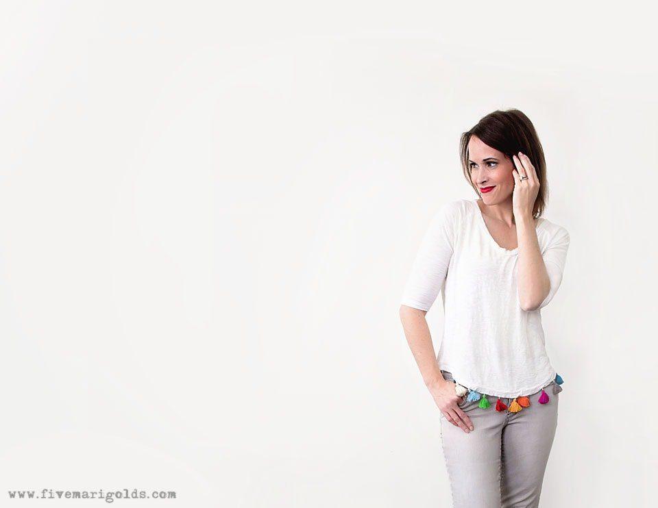 DIY No-Sew Tassel Tee | Five Marigolds