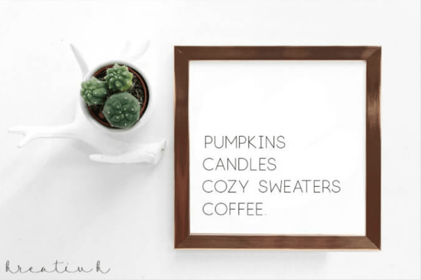 Pumpkins Candles Cozy Sweaters Coffee Free Printable