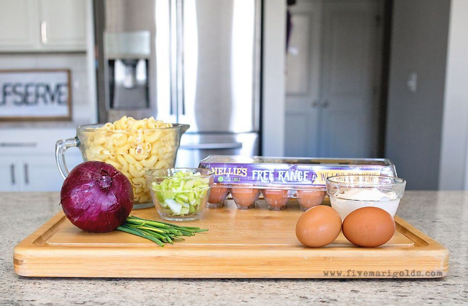 Deviled Egg Pasta Salad | Five Marigolds