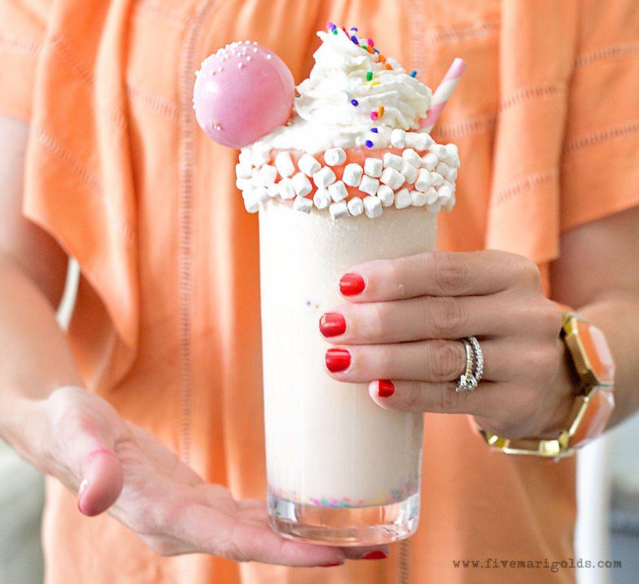 Marshmallow Vanilla Birthday Milk Shake