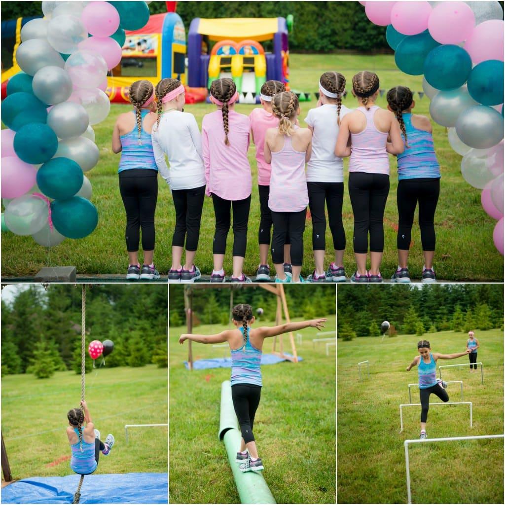 DIY Ninja Warrior Course birthday party