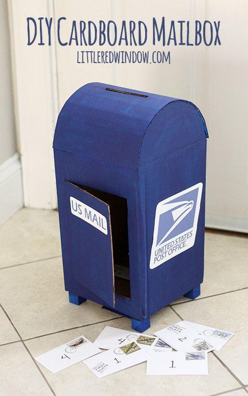 DIY Upcycled Cardboard Box Mailbox
