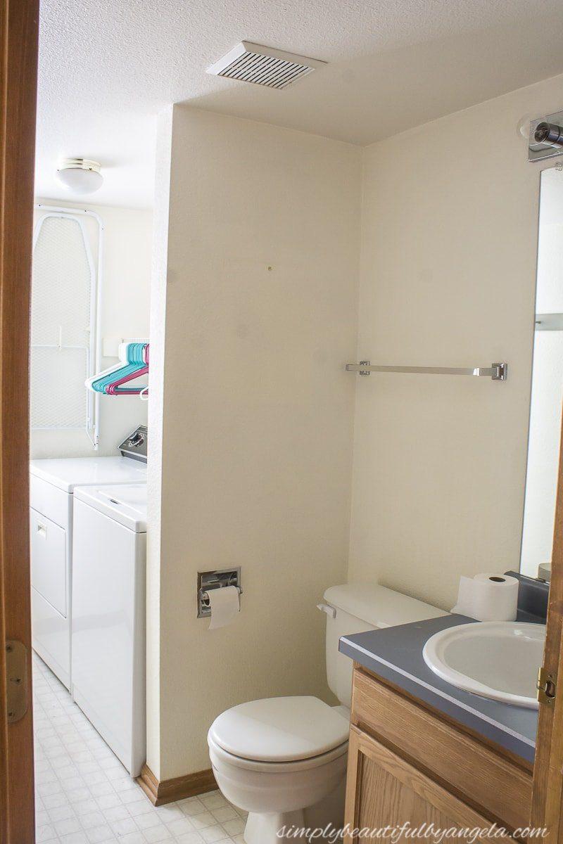 DIY Rustic Farm House Laundry Room Floating Shelves