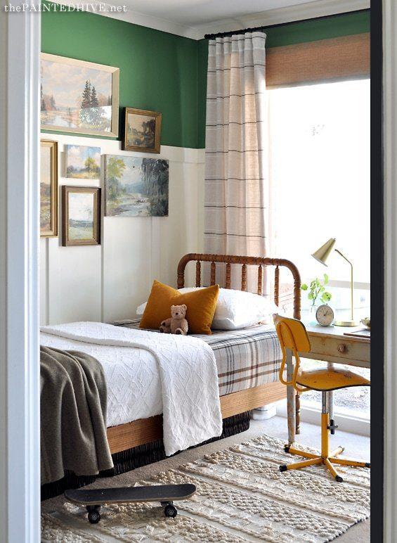 Vintage Boy Room small bedroom Makeover | Five Marigolds