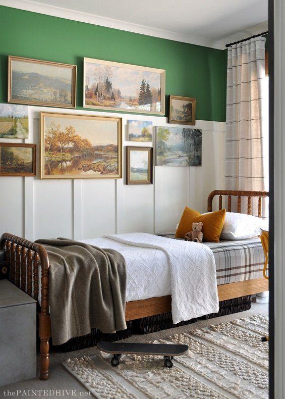 Vintage Boy Room small bedroom Makeover