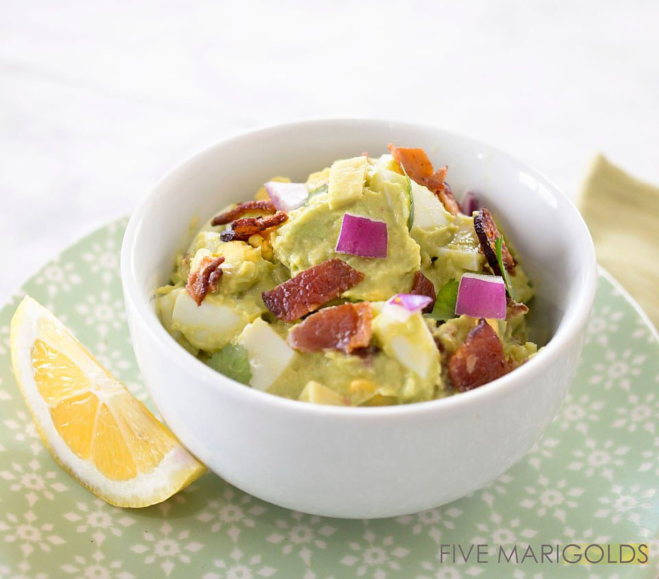 Avocado Egg Salad - low carb, Keto and Paleo friendly