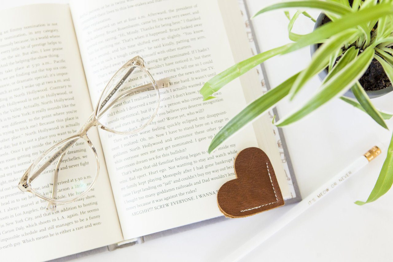 Top 20 best DIY Mother's Day gifts on a budget - no-sew leather bookmark.