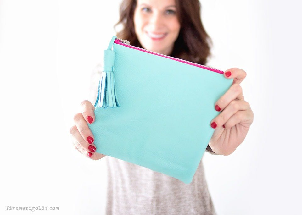 Top 20 best DIY Mother's Day gifts on a budget - no-sew leather pouch