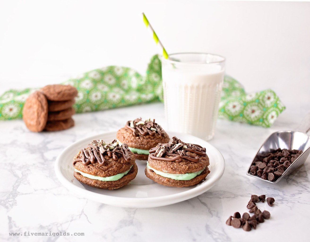 Grasshopper Sandwich Cookie Recipe