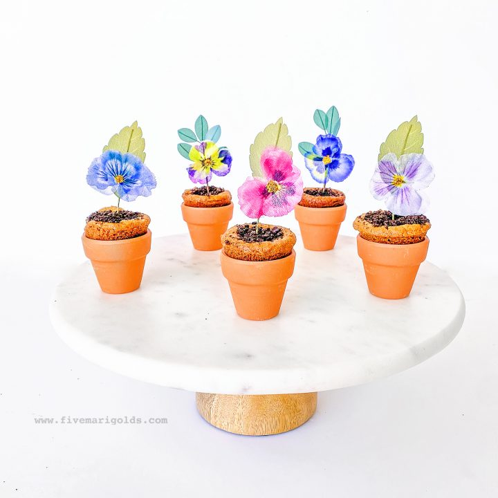 Flower Pot Cookie Cups