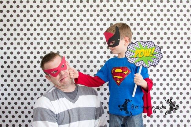 Super Hero Comic Book Photo Booth | Five Marigolds