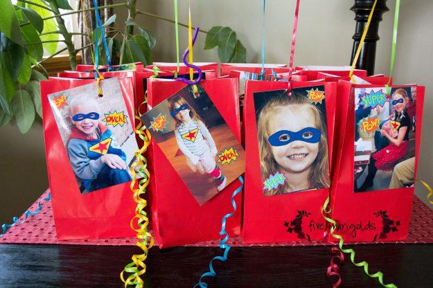 Super Hero Comic Book Birthday Party Custom Favors | Five Marigolds