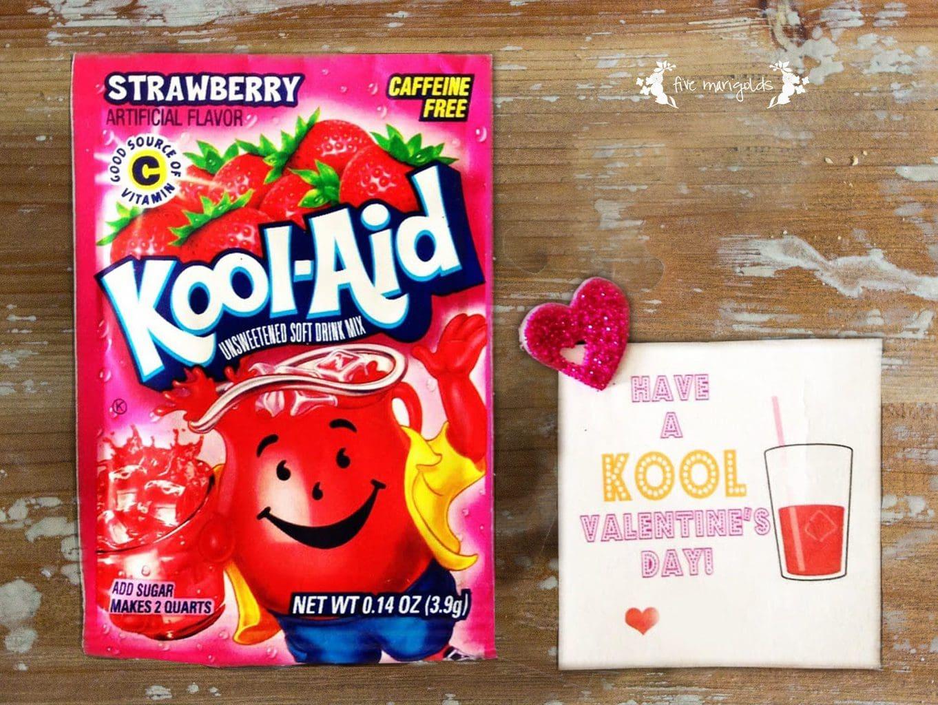 Kool-Aid Valentine Printable | Five Marigolds