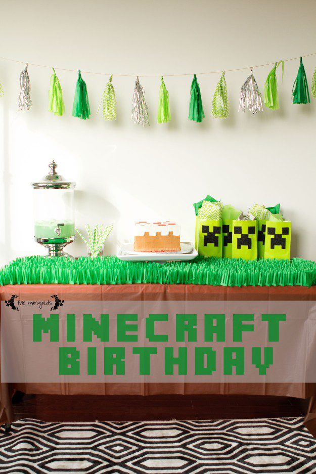 Minecraft Birthday Party | Five Marigolds