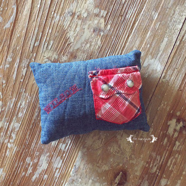 Tooth Fairy Pillow Using Upcycled Baby Clothing | Five Marigolds